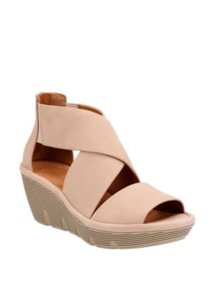 Clarene Glamor Open Toe Leather Sandals by Clarks