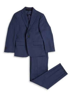 TwoButton Wool Suit Set