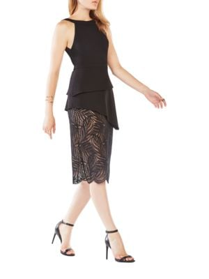 Reya Lace Paneled Dress by BCBGMAXAZRIA