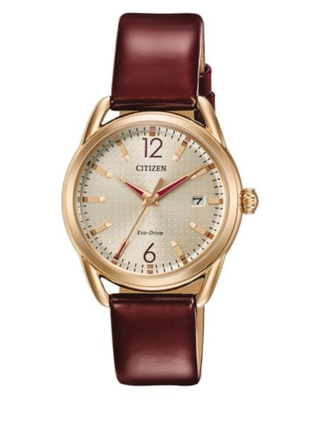 drive-goldtone-stainless-steel-and-quilted-leather-strap-watch,-fe6083-13e by citizen
