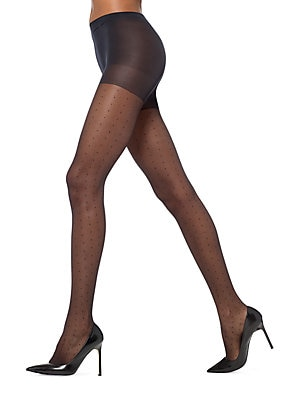 f034dde1f Hue - Tulle Dot Sheer Pantyhose with Control Top - lordandtaylor.com
