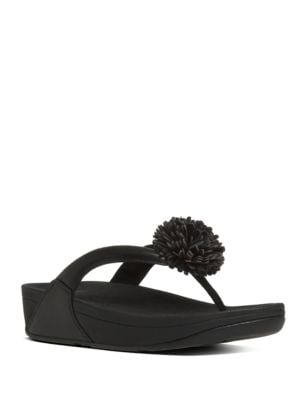 Photo of Flowerball TM Leather Thong Sandals by FitFlop - shop FitFlop shoes sales