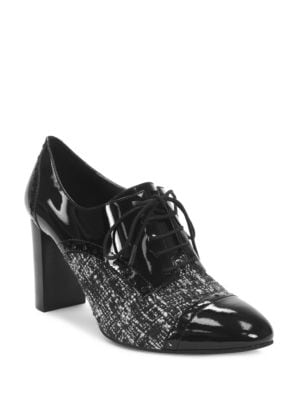 Evo Patent Leather Tie-Up Oxfords by Tahari