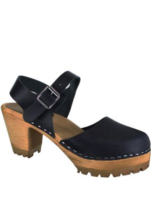 Abba Leather Clogs
