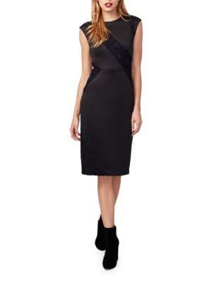 Lace-Accented Sheath Dress by RACHEL Rachel Roy