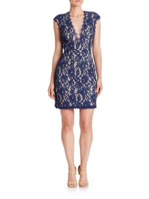 Back Cutout Lace Dress by Aidan Aidan Mattox