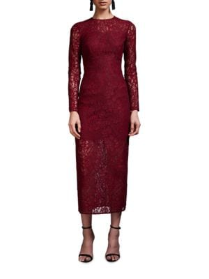 Delicate Fitted Lace Dress by Cynthia Rowley