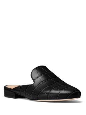 Natasha Leather Mules by MICHAEL MICHAEL KORS