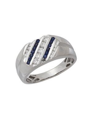 14K White Gold Ring @...