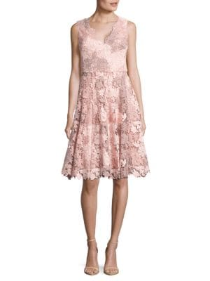 Floral Crochet A-Line Dress by Vera Wang