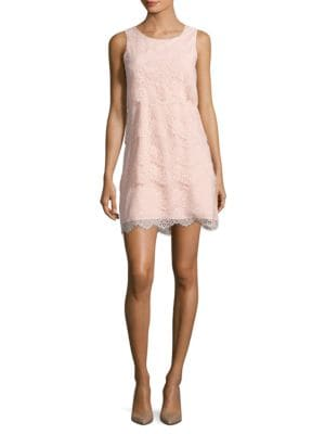 Tiered Lace Cocktail Dress by Jessica Simpson