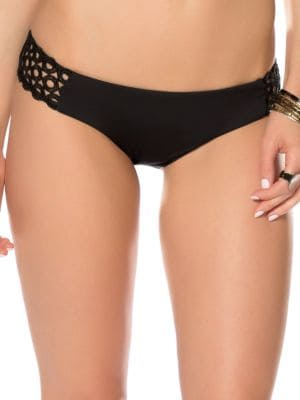Siren American Openwork Ringlet Bikini Bottom by Becca Swim