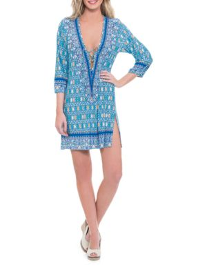 India Cover-Up Tunic by Blush By Gottex