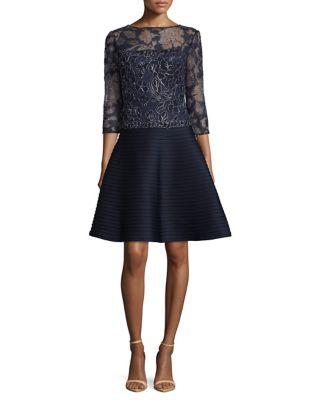 Lace Bodice A-Line Dress by Tadashi Shoji