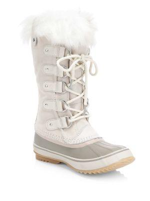 Joan of Arctic Waterproof Suede Faux Fur Boots by Sorel
