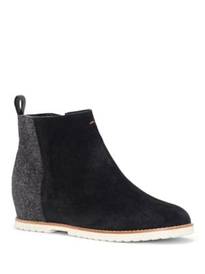 Tannor Suede and Fabric Booties by Ed Ellen Degeneres