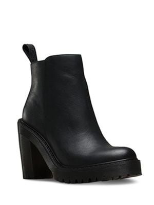 Magdalena Leather Booties by Dr. Martens