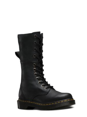 Hazil Leather Boots by Dr. Martens