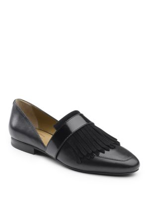 Harlow Leather Fringe Loafers by G.H. Bass