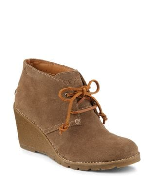 Stella Prow Suede Wedge Ankle Boots by Sperry