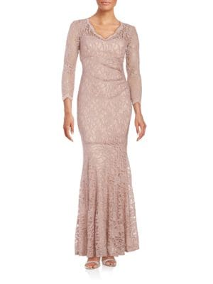 Sparkling Lace Mermaid Gown by Xscape