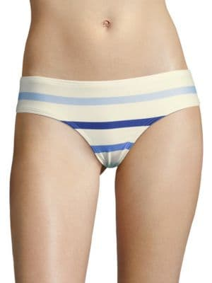 Province Town Striped Hipster Bikini Bottom by Kate Spade New York
