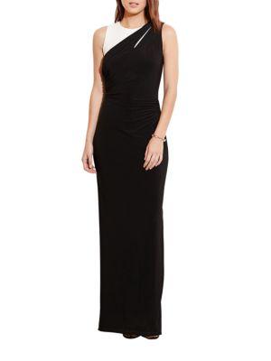 Shirred Jersey Gown by Lauren Ralph Lauren