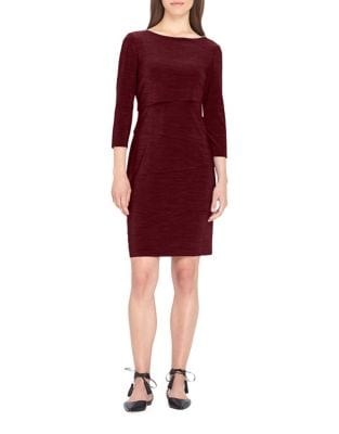 Three-Quarter-Sleeve Tiered Dress by Tahari Arthur S. Levine