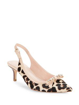 Palina Leopard Print Calf Hair Heels by Kate Spade New York