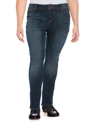 Plus Faded Dark Wash Jeans 500045848439