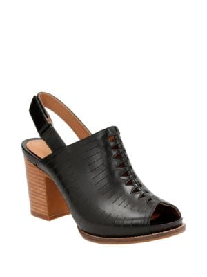 Briatta Leather Mules by Clarks