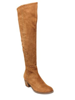 Odel Suede Studded Over-The-Knee Boots by Design Lab Lord & Taylor