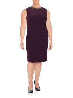 Photo of Plus Embellished Sheath Dress by Vince Camuto - shop Vince Camuto dresses sales