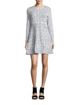 Textured Three-Quarter Sleeved Dress by Eliza J