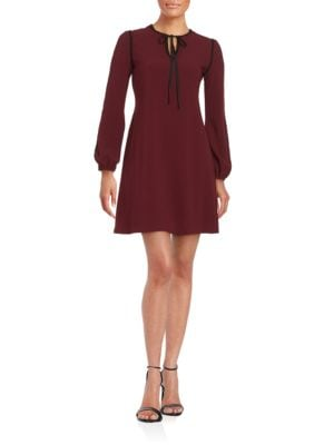 Crocheted-Trimmed Shift Dress by Taylor