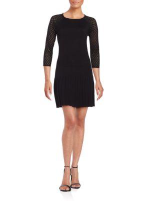 Photo of Lisette Knit Drop-Waist Dress by Shoshanna - shop Shoshanna dresses sales