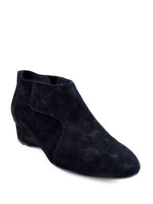 Feni Suede Wedge Heel Booties by Taryn Rose