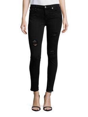 Destructed Ankle Slim Illusion Skinny Jeans 500046322491