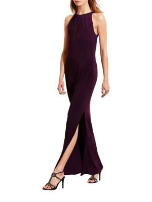 Mesh-Back Jersey Gown by Lauren Ralph Lauren