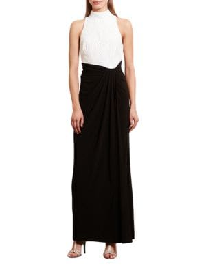 Sequined-Bodice Jersey Gown by Lauren Ralph Lauren