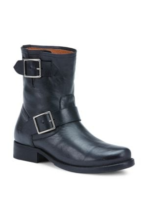 Vicky Engineer Leather Buckle Boots by Frye