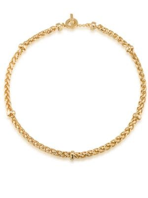 Image of 12K Goldplated Braided Necklace
