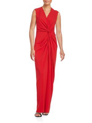 Photo of Belle Badgley Mischka Twist Front Gown