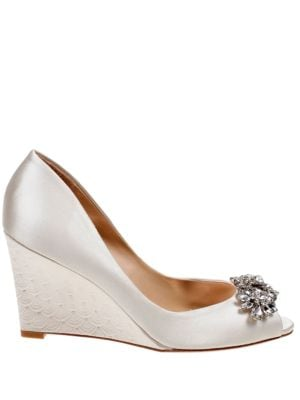 Dara Peep Toe Wedge Pumps by Badgley Mischka