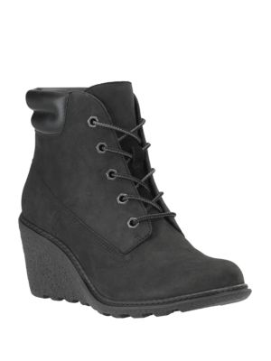 Amston Leather Wedge Heel Boots by Timberland