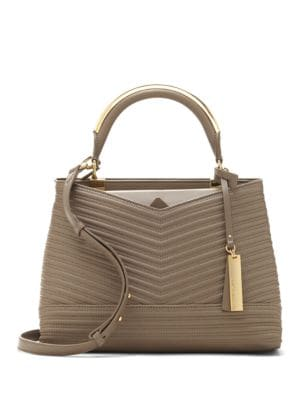 Two-Tone Leather Satchel 500046749875