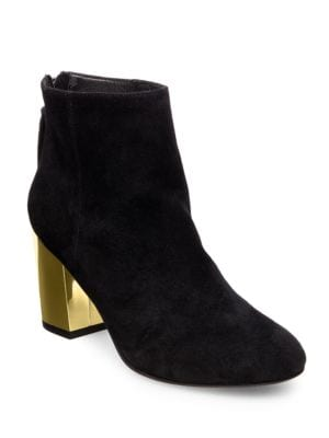 Cynthian Kid Suede Zipper...