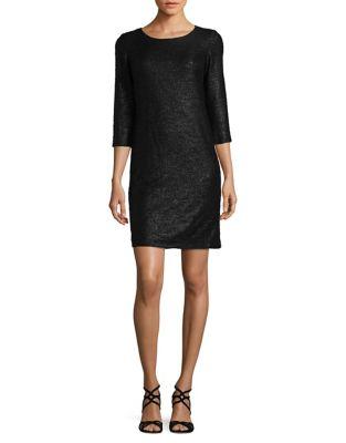 Three-Quarter Sleeve Sheath Dress by Chetta B
