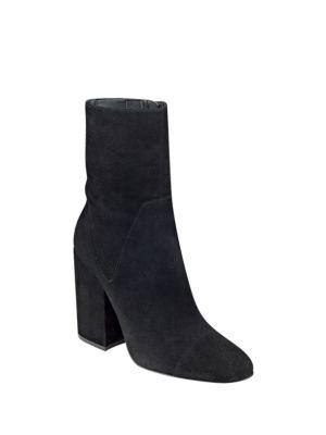 Photo of Brooke Suede Block-Heel Booties by KENDALL + KYLIE - shop KENDALL + KYLIE shoes sales