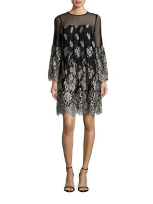 Trudie Illusion Neck Dress by Erin Fetherston